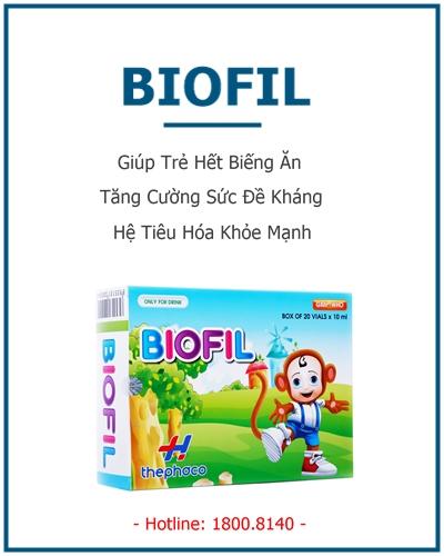 biofil giúp trẻ hết biếng ăn